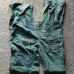 Pants - Army Green Linen Pants